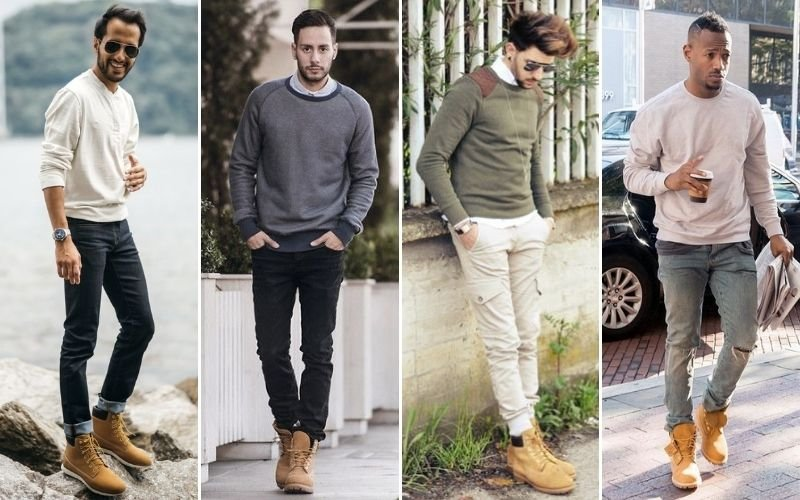 Timberland Boots with Sweater