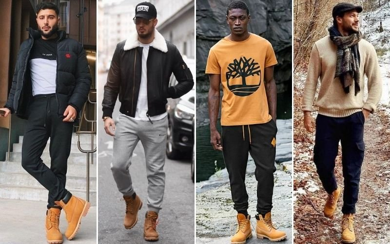 Timberlands with Sweatpants