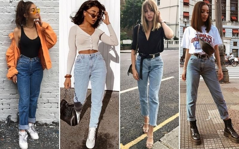 90s Mom Jeans Outfits