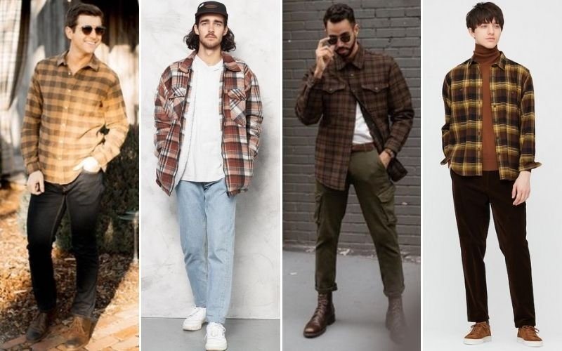 Brown Flannel Outfits