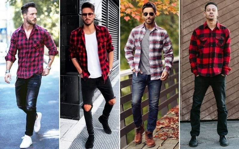 Red Flannel Outfits