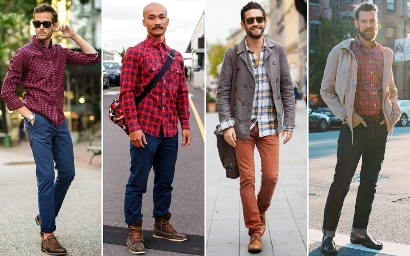 Smart Casual Flannel Shirt Outfits