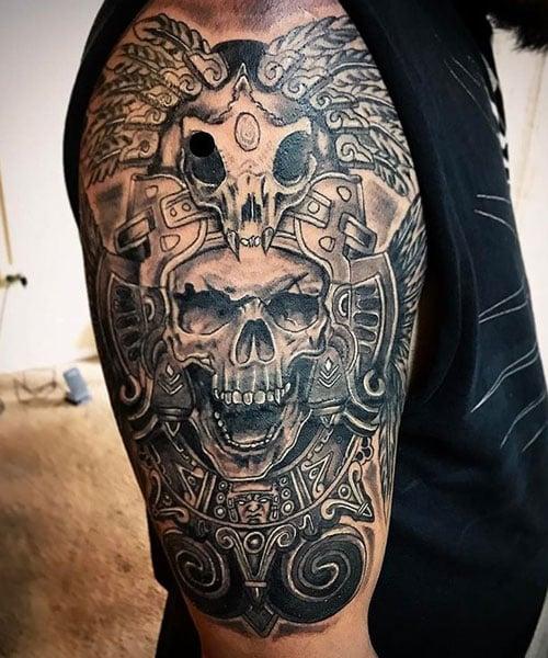 Aztec Skull Tattoo Ideas