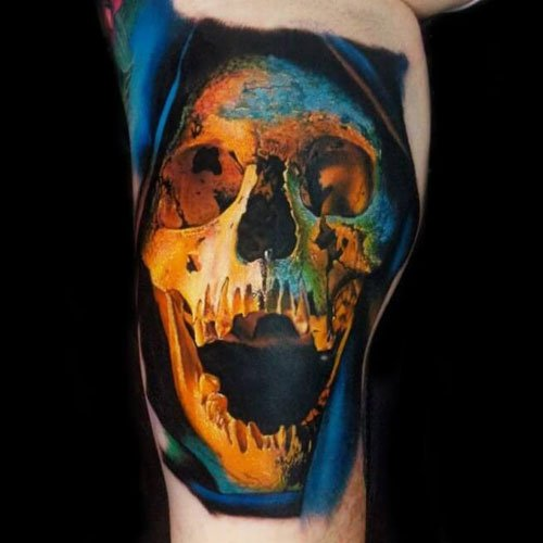 Color Skull Tattoo