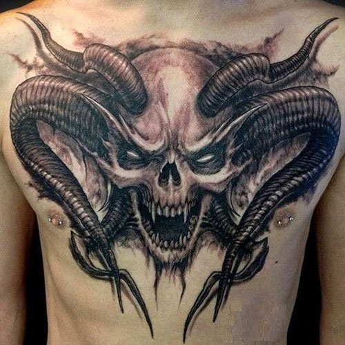 Demon Skull Tattoo Design Ideas