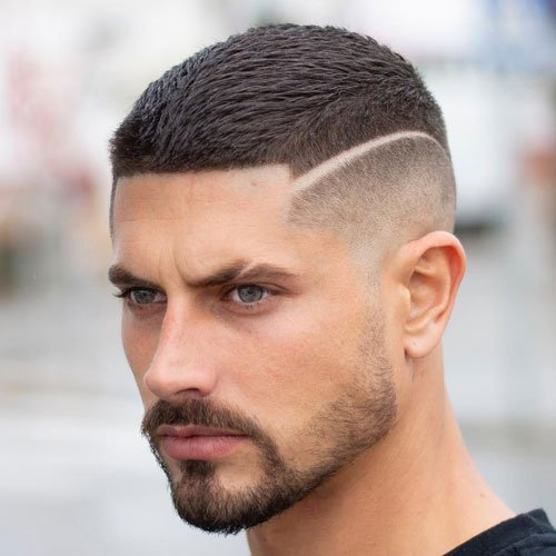 Eyebrow Cut with Fade Haircut