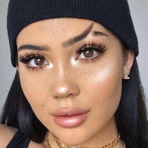 Fishtail Eyebrow Cut Style