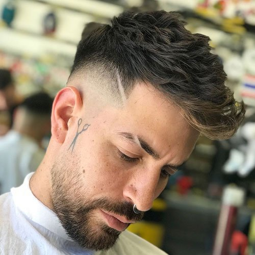 Haircut Joining Eyebrow Slit
