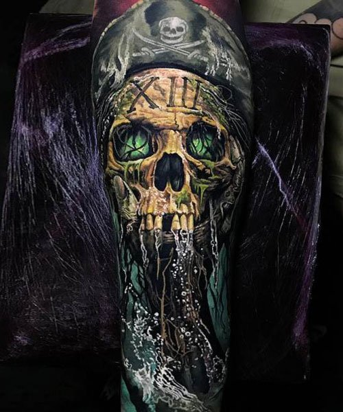 Pirate Skull Tattoo Design Ideas