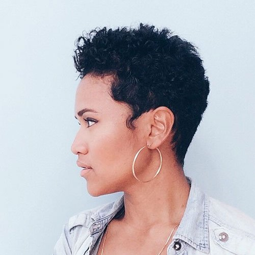 Pixie Cut with Kiss Curl