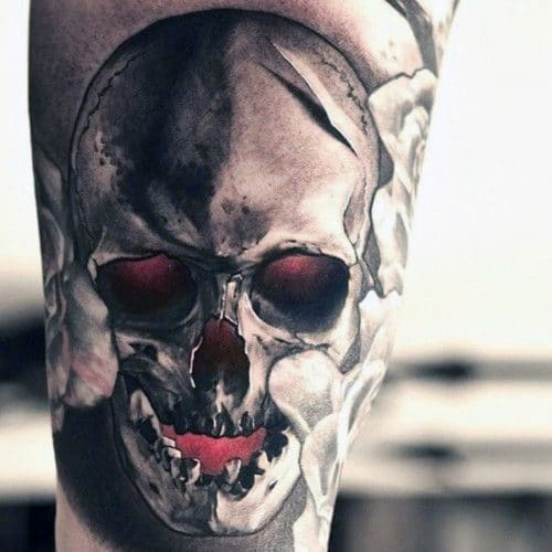 Realistic Skull Tattoo Design Ideas