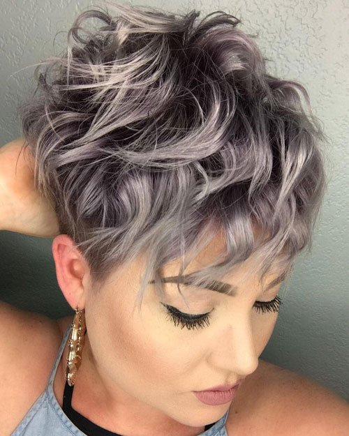 Short Edgy Messy Pixie Haircut