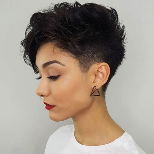 Short Tapered Pixie Haircut