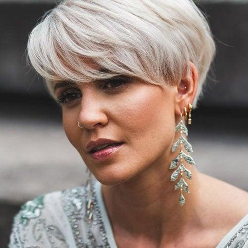 Silver Hair Pixie Haircuts