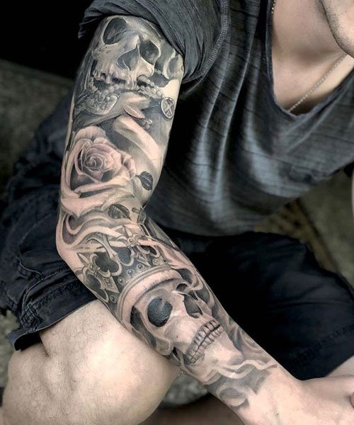 Skull Arm Tattoo Design Ideas