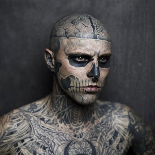 Skull Face Tattoo