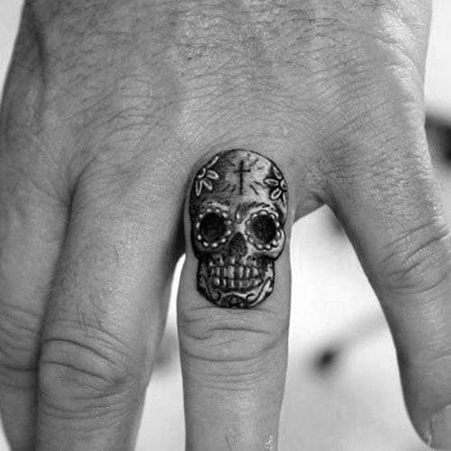 Skull Finger Tattoo Design Ideas