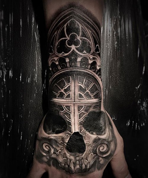 Skull and Cross Tattoo Design Ideas