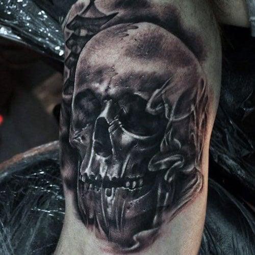 Smoke Skull Tattoo Design Ideas