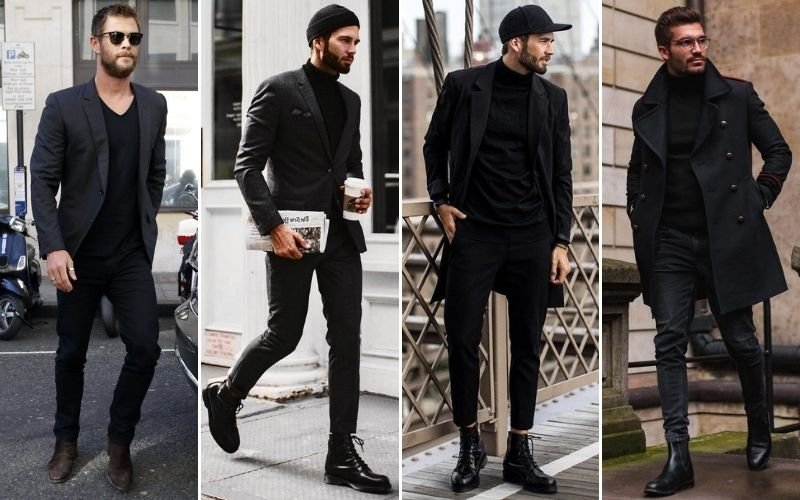 All Black Business Casual Outfits Men