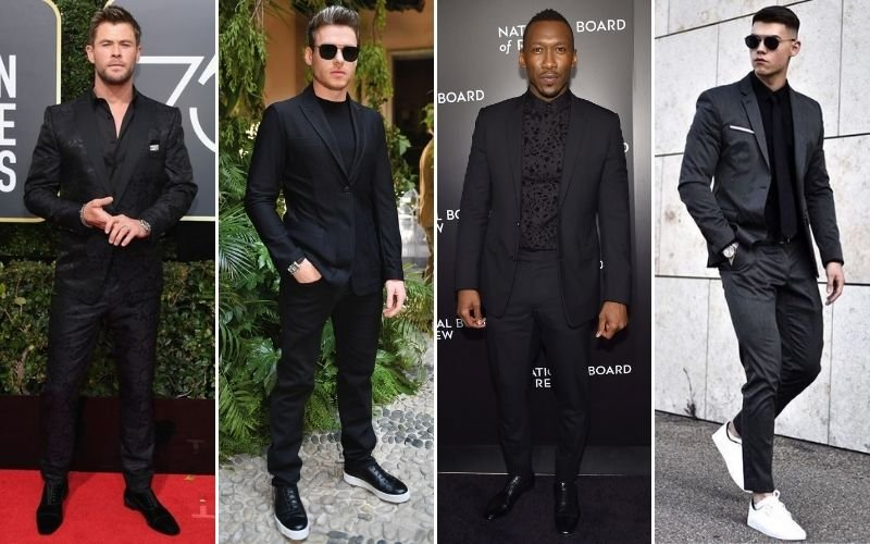 All Black Formal Outfits Men