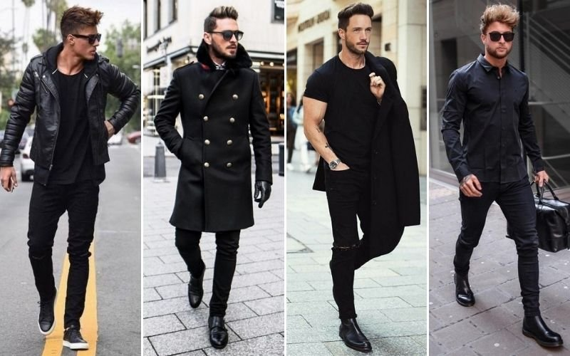 All Black Outfits Jeans Men