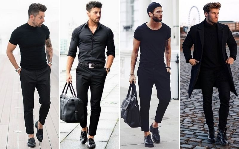 All Black Outfits Pants Men