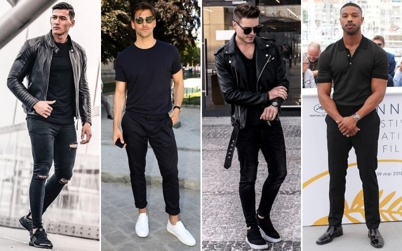 All Black Outfits Shirts Men