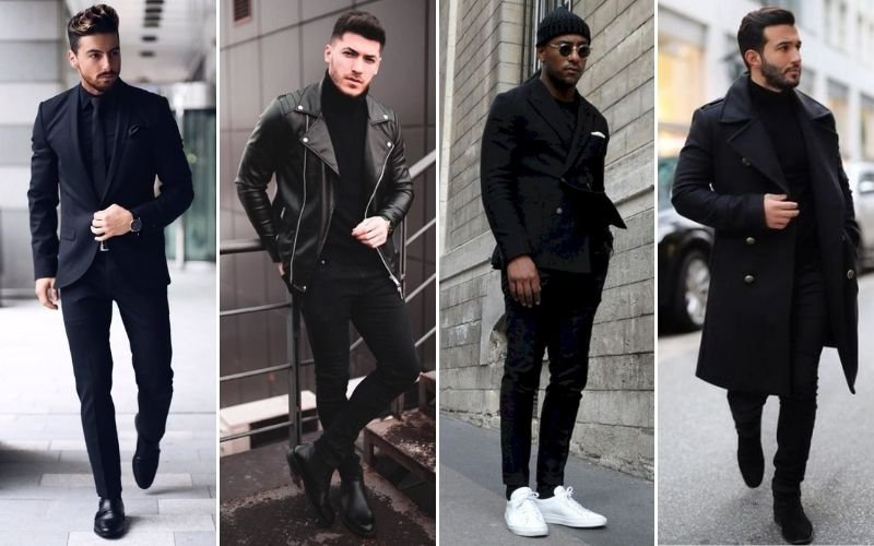 All Black Party Outfits Men