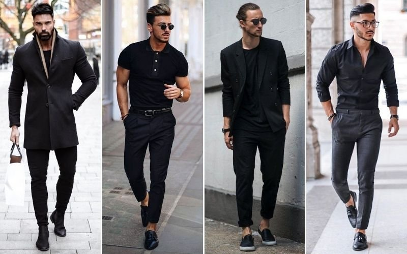 All Black Smart Casual Outfits Men