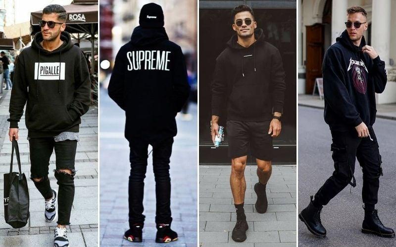 All Black Streetwear Outfits Men