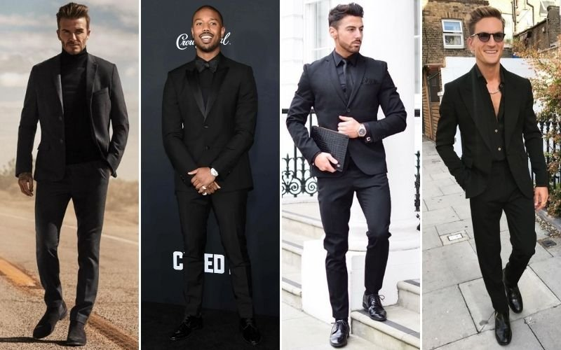 All Black Suits Outfits Men