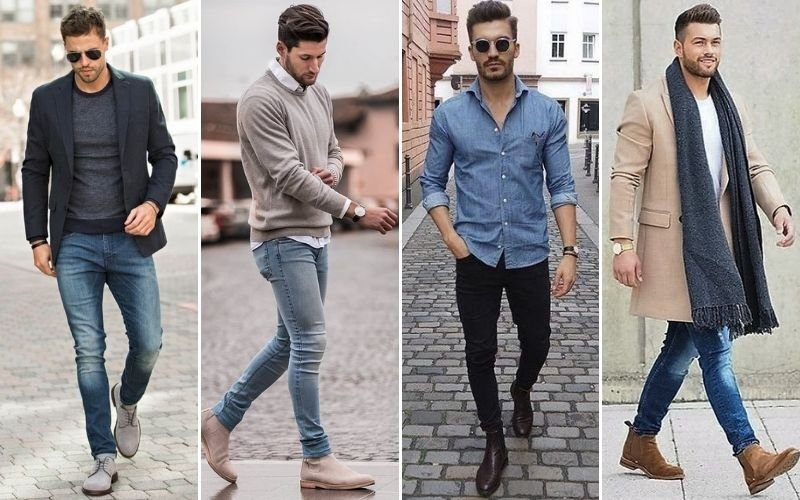 Men's Smart Casual Boots Outfits