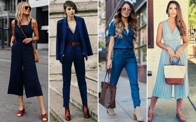 Blue Jumpsuits