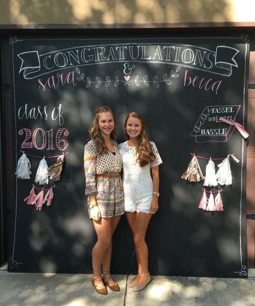 Chalkboard Photo Backdrop For Graduation Party