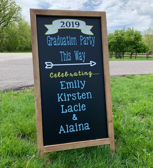 DIY Party Entrance Signs