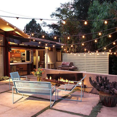 Decorate Your Backyard with Lights