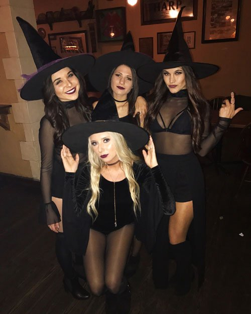 Witch College Halloween Costume