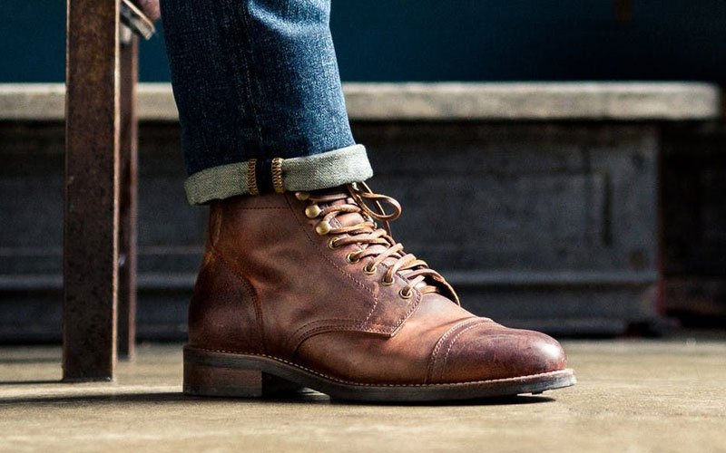 Cap Toe Boots with Jeans