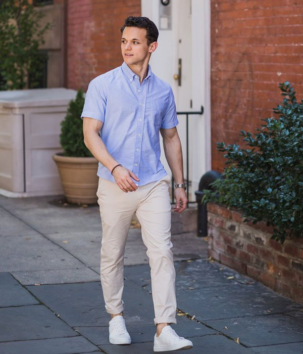 Chinos with Shirt and Sneakers For Teen Boys