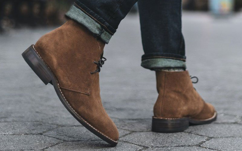 Dark Brown Chukkas with Jeans