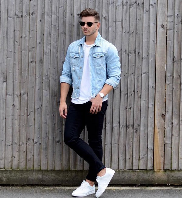 Denim Jacket Outfits For Teen Guys