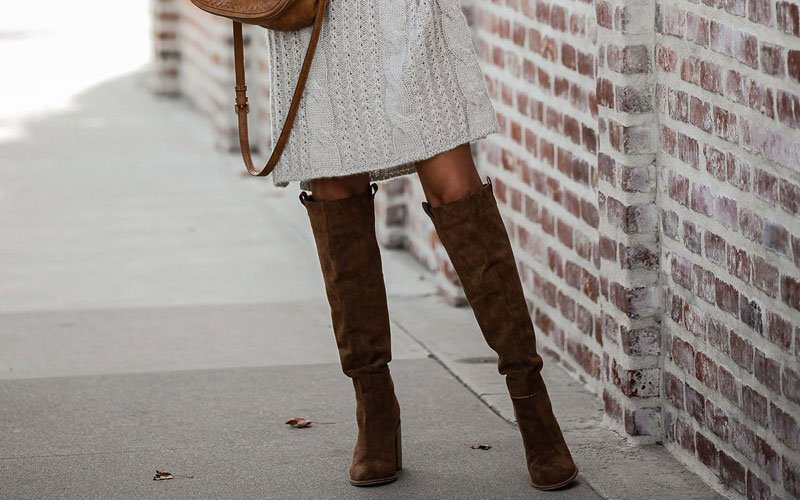 Dress with Knee High Boots