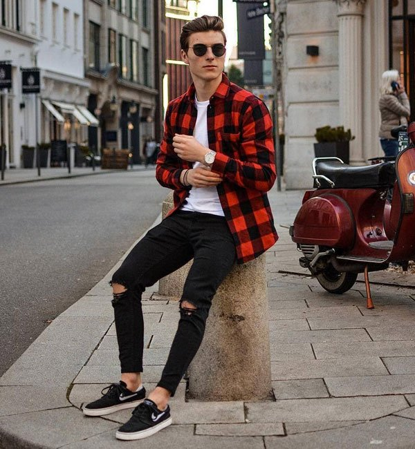 Flannel Shirt Outfits For Teenage Guys