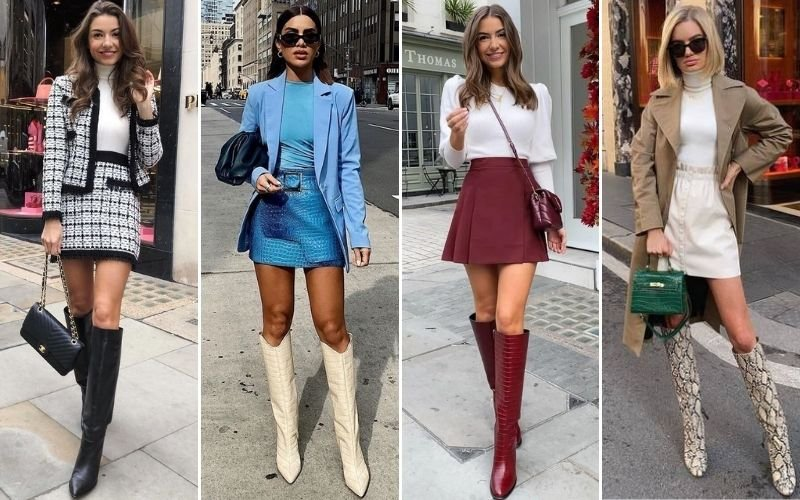 Knee High Boots With A Skirt