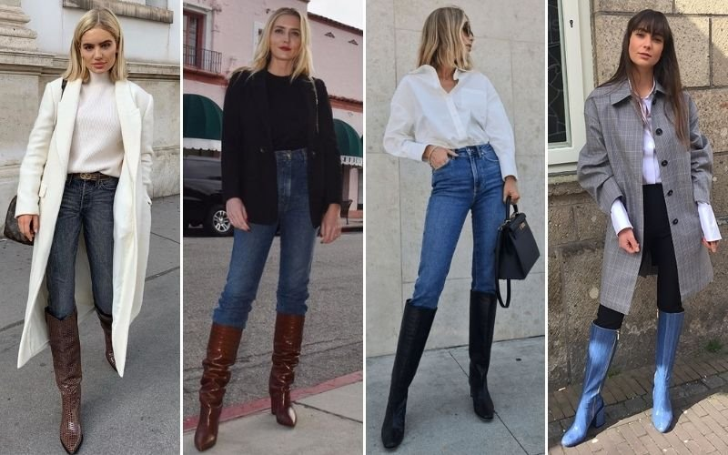 Knee High Boots with Jeans