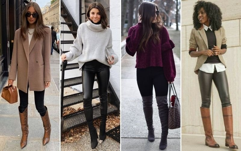 Knee High Boots with Leggings