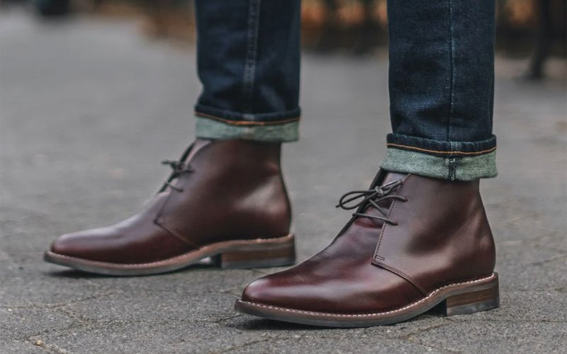 Leather Chukka Boots with Jeans