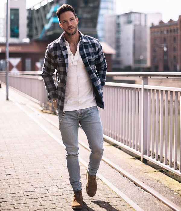 Teen Boy Outfits with Flannel Shirt