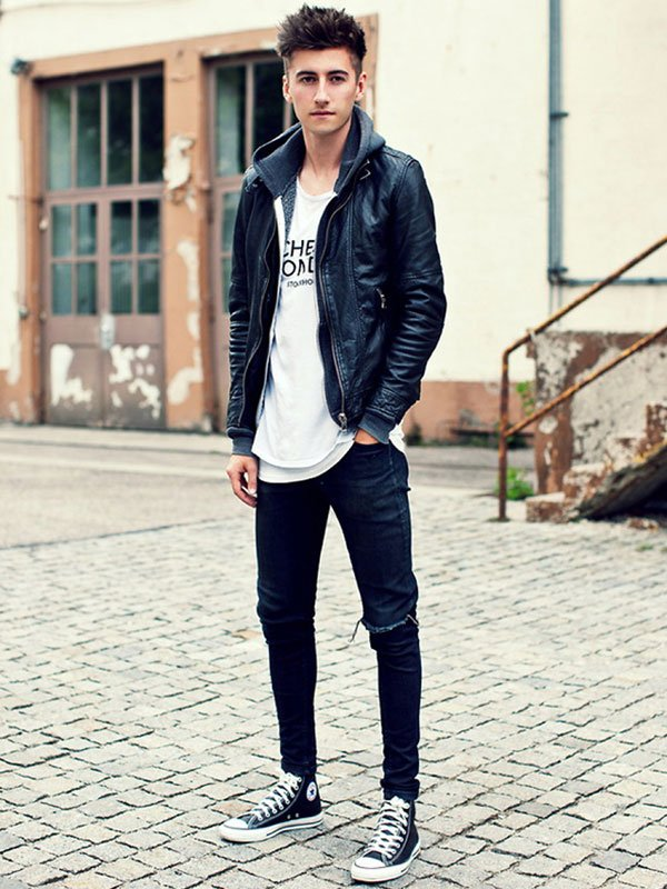 Trendy Skinny Jeans Outfits For Teenage Guys
